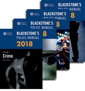 Cover for Blackstone's Police Manuals 2018: Four Volume Set - 9780198806097