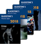 Cover for Blackstone's Police Q&A: Four Volume Pack 2018 - 9780198806264
