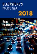 Cover for Blackstone's Police Q&A: Road Policing 2018 - 9780198806295