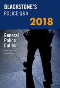 Cover for Blackstone's Police Q&A: General Police Duties 2018 - 9780198806301