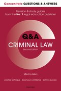 Cover for <i>Concentrate Q&amp;A Criminal Law</i> 2e