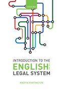 Cover for Introduction to the English Legal System 2018-19