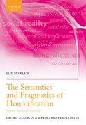 Cover for The Semantics and Pragmatics of Honorification