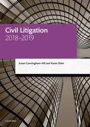 Cover for Civil Litigation 2018-2019