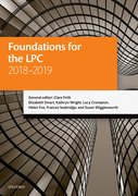 Cover for Foundations for the LPC 2018-2019