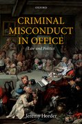 Cover for Criminal Misconduct in Office