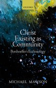 Cover for Christ Existing as Community
