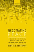 Cover for Negotiating Peace