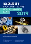 Cover for Blackstone's Police Investigators' Mock Examination Paper 2019 - 9780198831372
