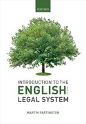 Cover for Introduction to the English Legal System 2019-2020