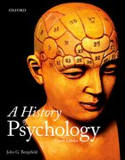 Cover for A History of Psychology