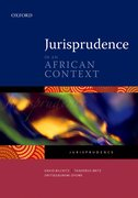 Cover for Jurisprudence in an African Context
