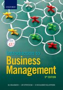 Cover for Introduction to Business Management