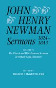 Cover for John Henry Newman Sermons 1824-1843