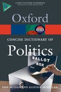 Cover for The Concise Oxford Dictionary of Politics