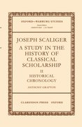 Cover for Joseph Scaliger: A Study in the History of Classical Scholarship