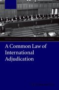 Cover for A Common Law of International Adjudication