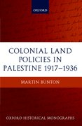 Cover for Colonial Land Policies in Palestine 1917-1936