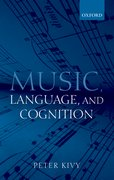 Cover for Music, Language, and Cognition