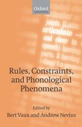 Cover for Rules, Constraints, and Phonological Phenomena