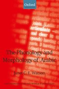 Cover for The Phonology and Morphology of Arabic