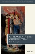 Cover for Character in the Criminal Trial
