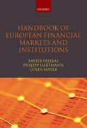Cover for Handbook of European Financial Markets and Institutions