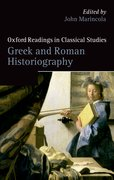 Cover for Greek and Roman Historiography