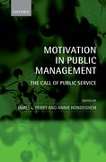 Cover for Motivation in Public Management