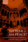 Cover for Just War or Just Peace?