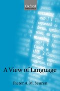 Cover for A View of Language