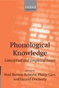 Cover for Phonological Knowledge