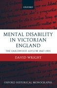 Cover for Mental Disability in Victorian England