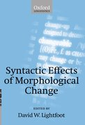 Cover for Syntactic Effects of Morphological Change