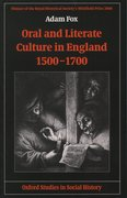 Cover for Oral and Literate Culture in England, 1500-1700