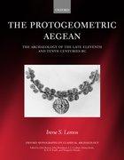 Cover for The Protogeometric Aegean