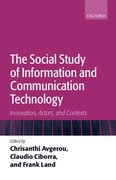 Cover for The Social Study of Information and Communication Technology