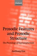Cover for Prosodic Features and Prosodic Structure