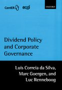 Cover for Dividend Policy and Corporate Governance