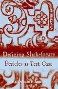 Cover for Defining Shakespeare