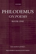 Cover for Philodemus: On Poems, Book 1
