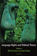 Cover for Language Rights and Political Theory