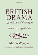 Cover for British Drama 1533-1642: A Catalogue