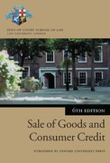 Cover for Sale of Goods and Consumer Credit in Practice
