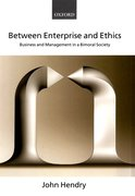 Cover for Between Enterprise and Ethics