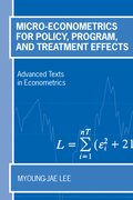 Cover for Micro-Econometrics for Policy, Program and Treatment Effects