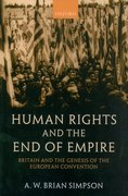 Cover for Human Rights and the End of Empire