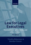 Cover for Law for Legal Executives
