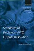 Cover for Standards of Review in WTO Dispute Resolution