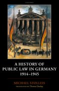 Cover for A History of Public Law in Germany 1914-1945